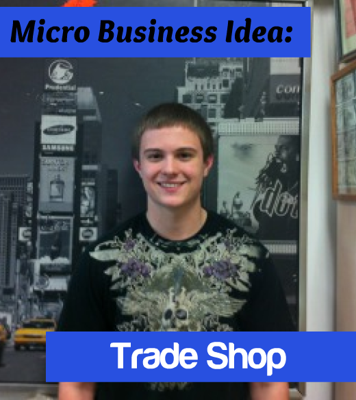 19 year old Chris Quagliata opened a trade shop where he sells the items that he purchased from storage lockers.