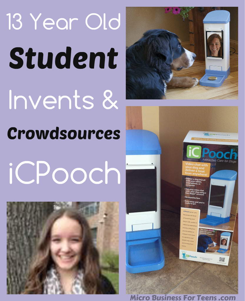 13 Year Old Student Invents & Crowdsources iCPooch